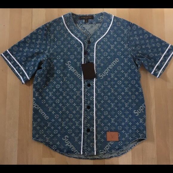 28f8f804c58064 Louis Vuitton Other - Supreme x Louis Vuitton Baseball Jersey